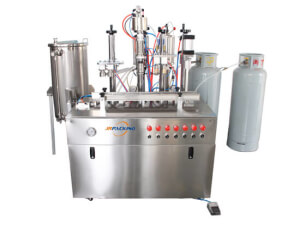 5 in 1 PU foam aerosol filling assembly line 1600C - jrpacking