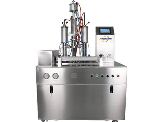 under cap aerosol filling machine for Freon refrigerant spray filling - jrpacking