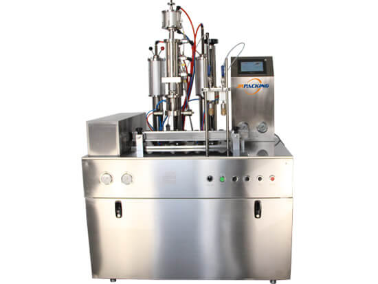 1600GT small automatic bag on valve aerosol filling machine - jrpacking