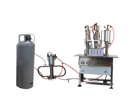 aerosol filling machine for aerosol spray paint production - tygulida