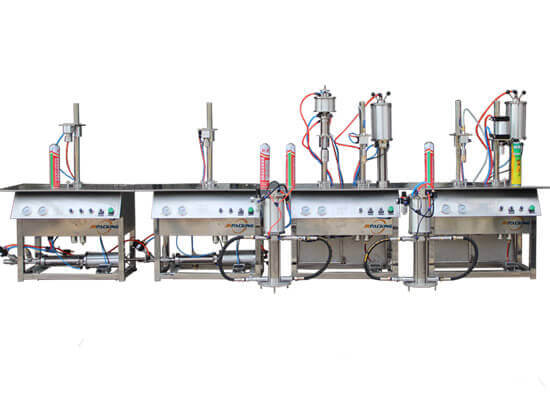 1600C semi automatic aerosol filling equipment - jrpacking