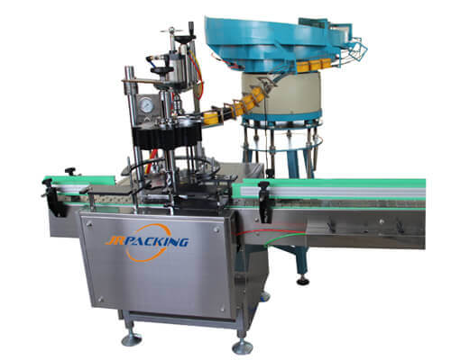Automatic cap pressing machine for aerosol products - jrpacking