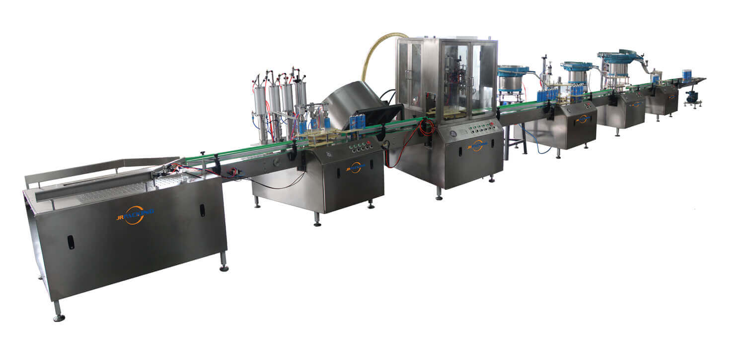 full automatic aerosol filling machines - jrpacking