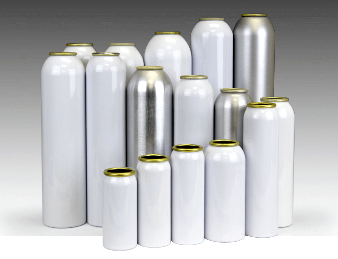 aerosol cans in BOV packaging system - jrpacking