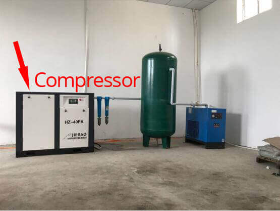 compressor for bag on vavle production - jrpacking